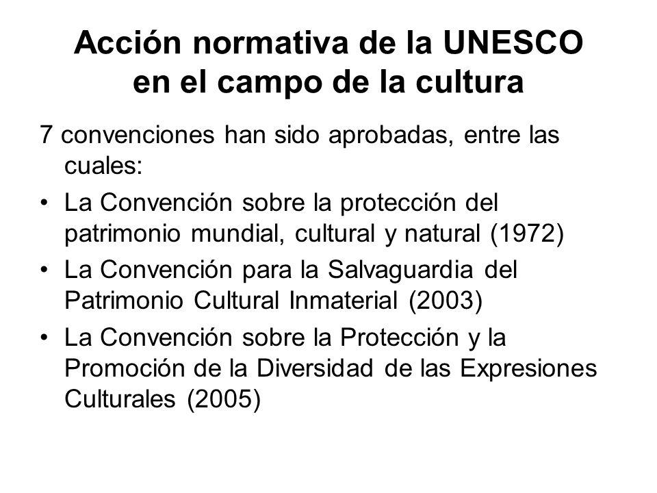 Acción normativa de la UNESCO en el campo de la cultura