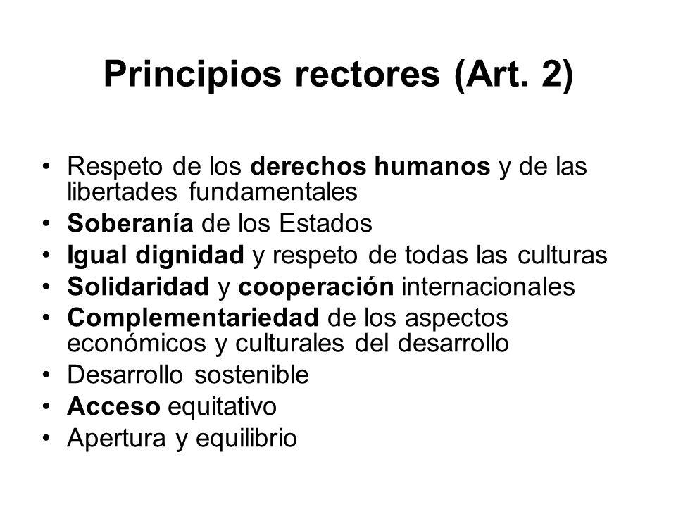 Principios rectores (Art. 2)