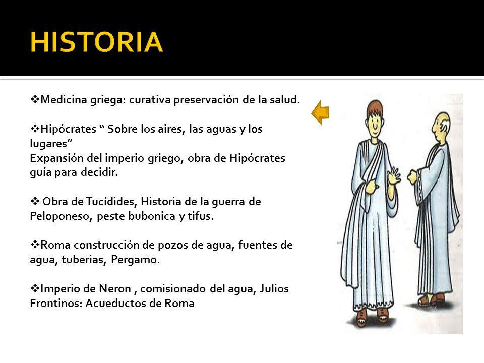HISTORIA Medicina griega: curativa preservación de la salud.