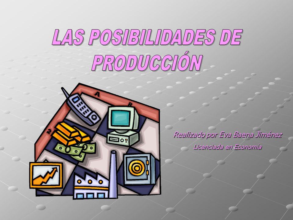 LAS POSIBILIDADES DE PRODUCCIÓN Realizado por Eva Baena Jiménez