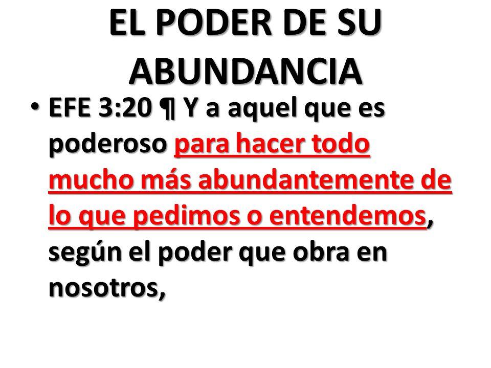 EL PODER DE SU ABUNDANCIA