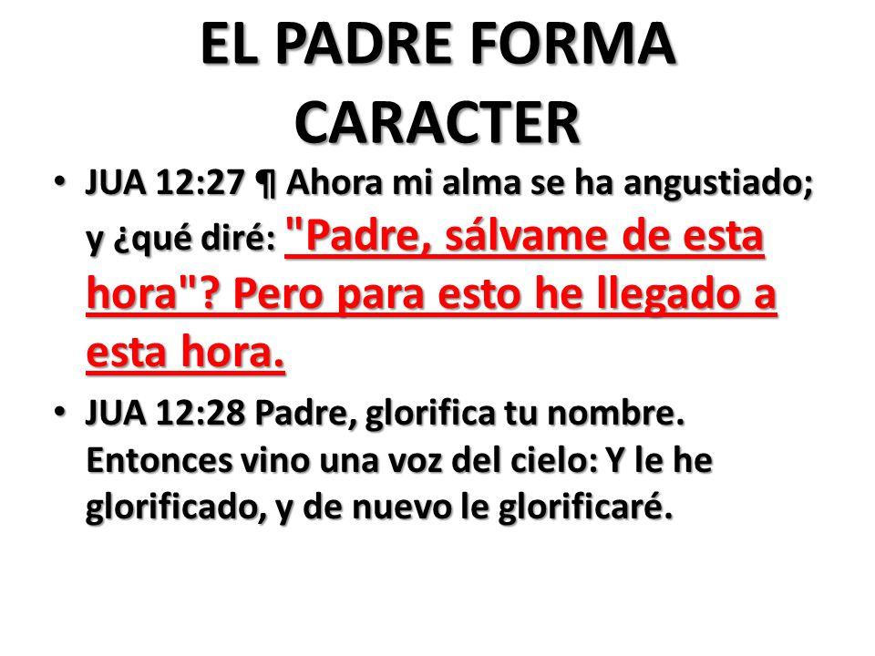 EL PADRE FORMA CARACTER