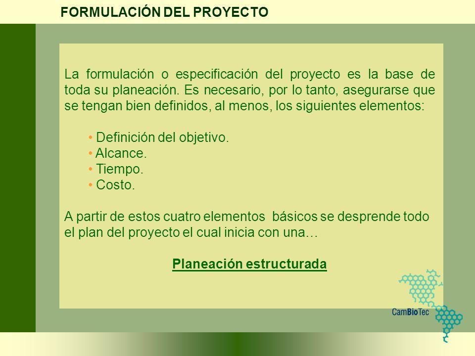 Planeación estructurada