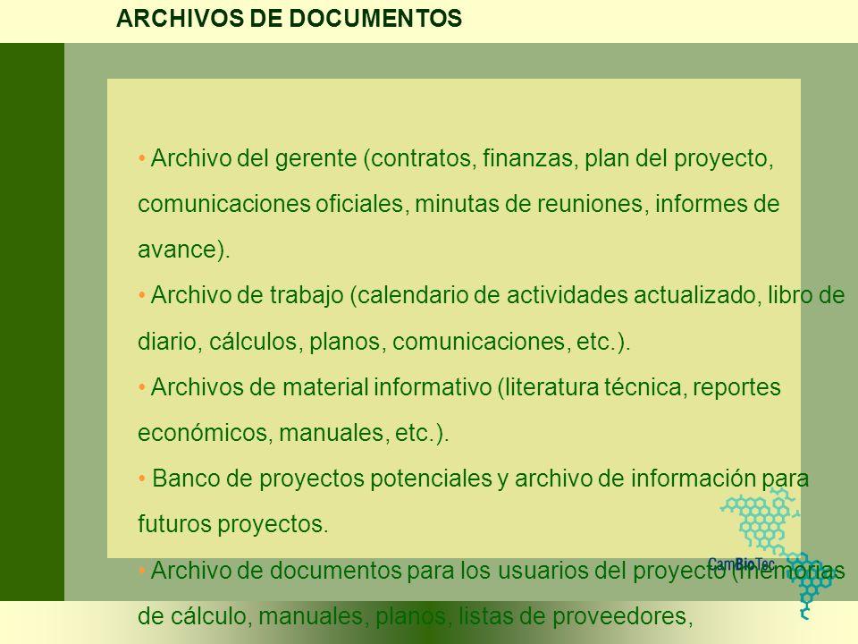 ARCHIVOS DE DOCUMENTOS