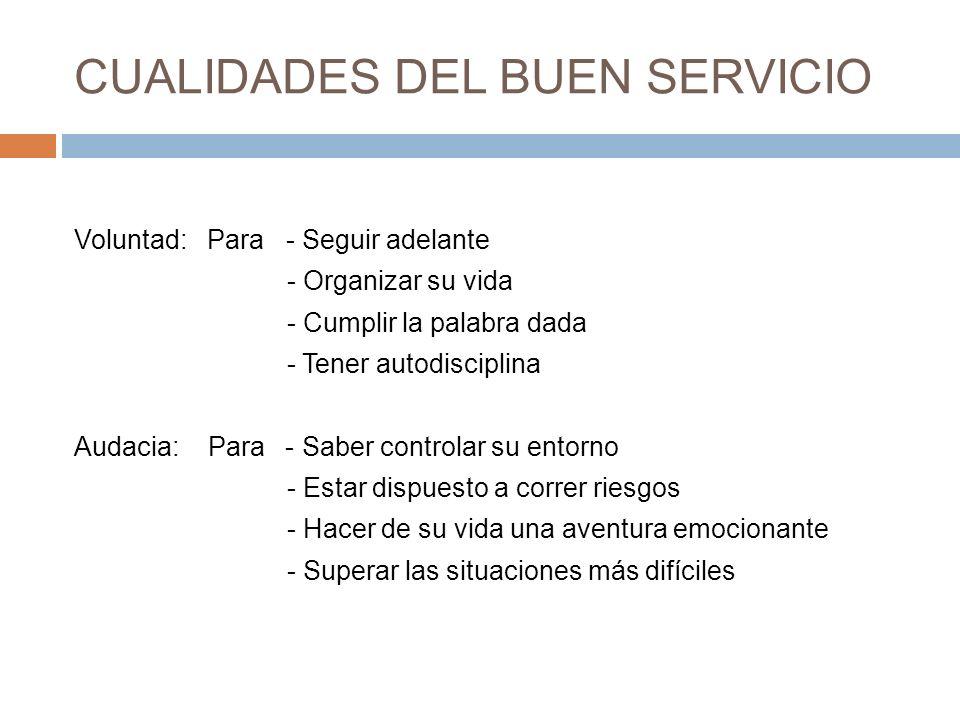 CUALIDADES DEL BUEN SERVICIO