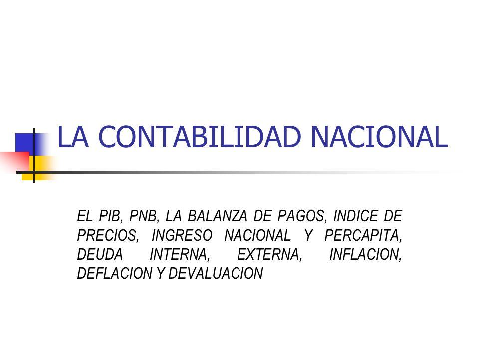 LA CONTABILIDAD NACIONAL