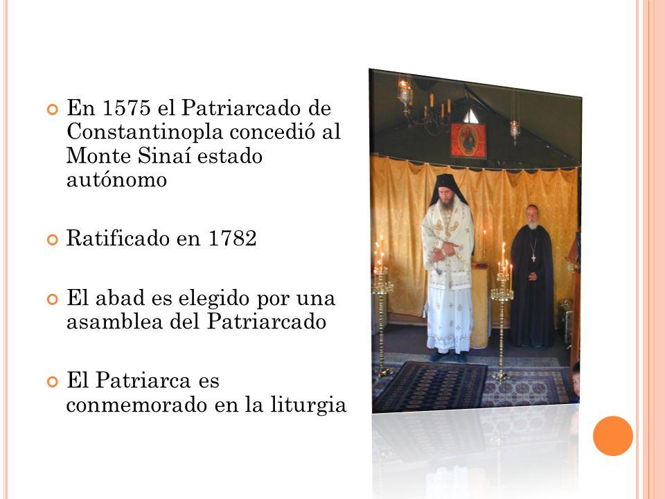 En 1575 el Patriarcado de Constantinopla concedió al Monte Sinaí estado autónomo