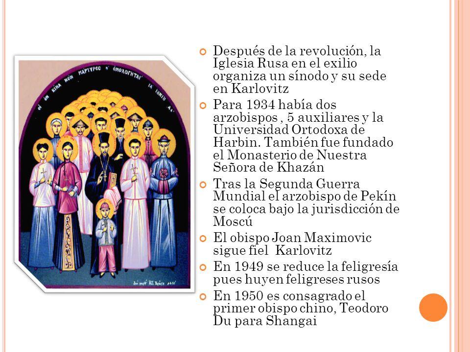 Después de la revolución, la Iglesia Rusa en el exilio organiza un sínodo y su sede en Karlovitz