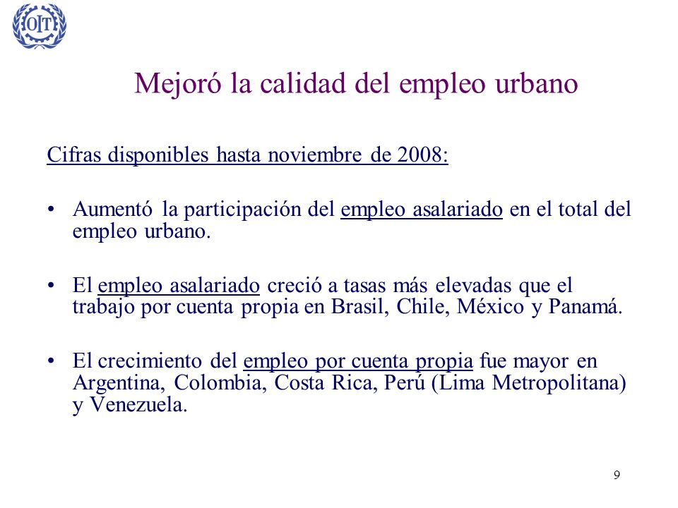 Mejoró la calidad del empleo urbano