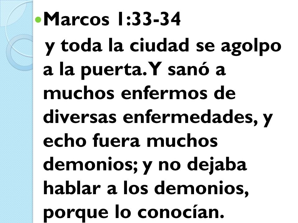 Marcos 1:33-34