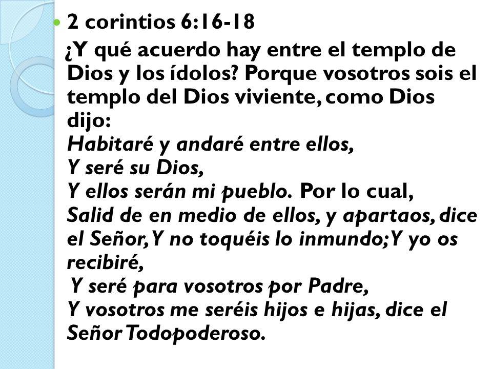 2 corintios 6:16-18