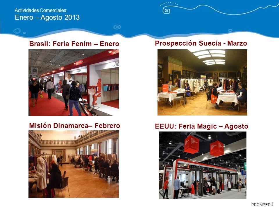 Brasil: Feria Fenim – Enero Prospección Suecia - Marzo