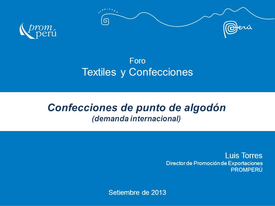 Confecciones de punto de algodón (demanda internacional)