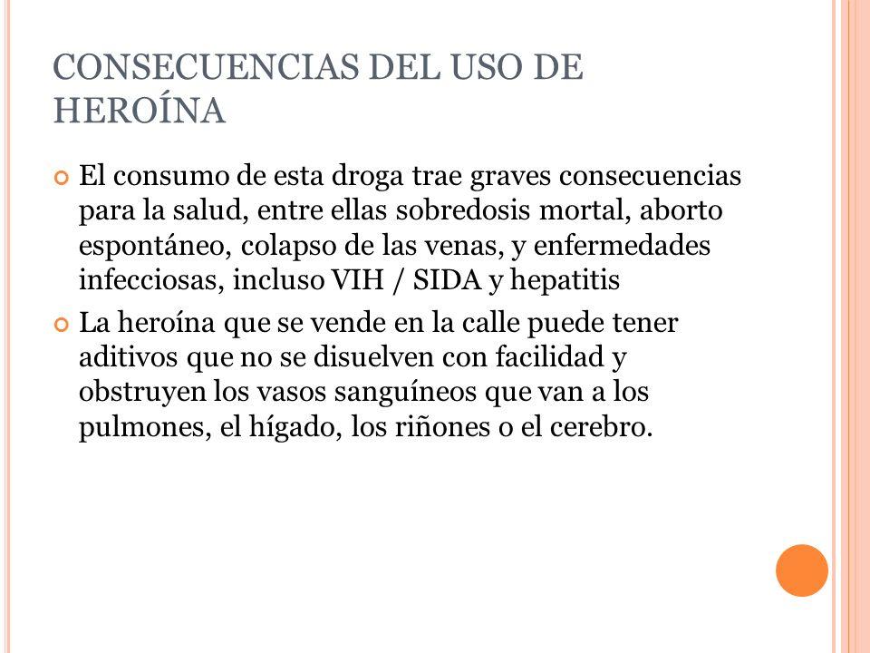 CONSECUENCIAS DEL USO DE HEROÍNA