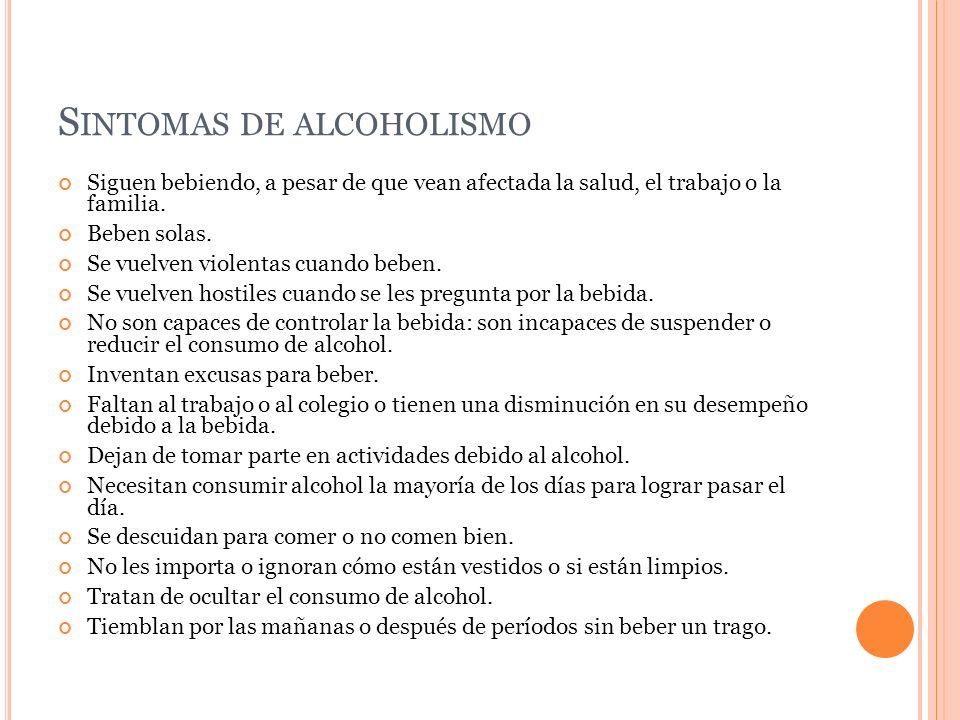 Sintomas de alcoholismo