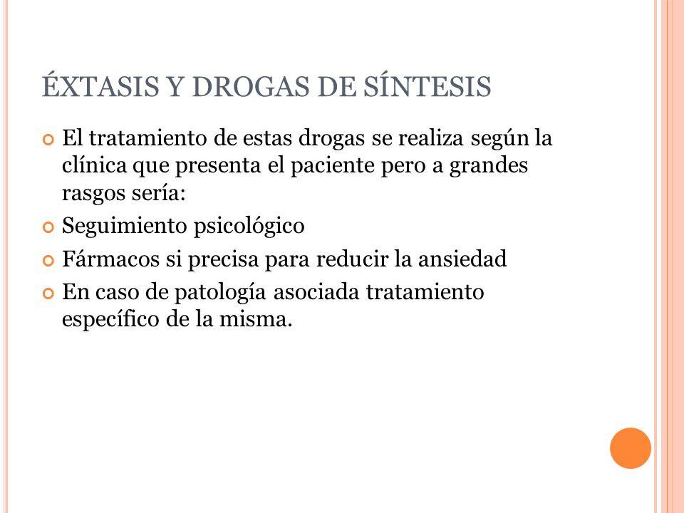 ÉXTASIS Y DROGAS DE SÍNTESIS
