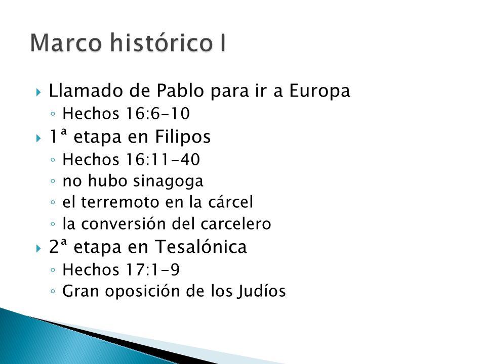 Marco histórico I Llamado de Pablo para ir a Europa