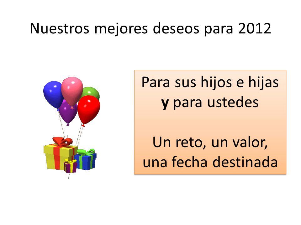 Nuestros mejores deseos para 2012