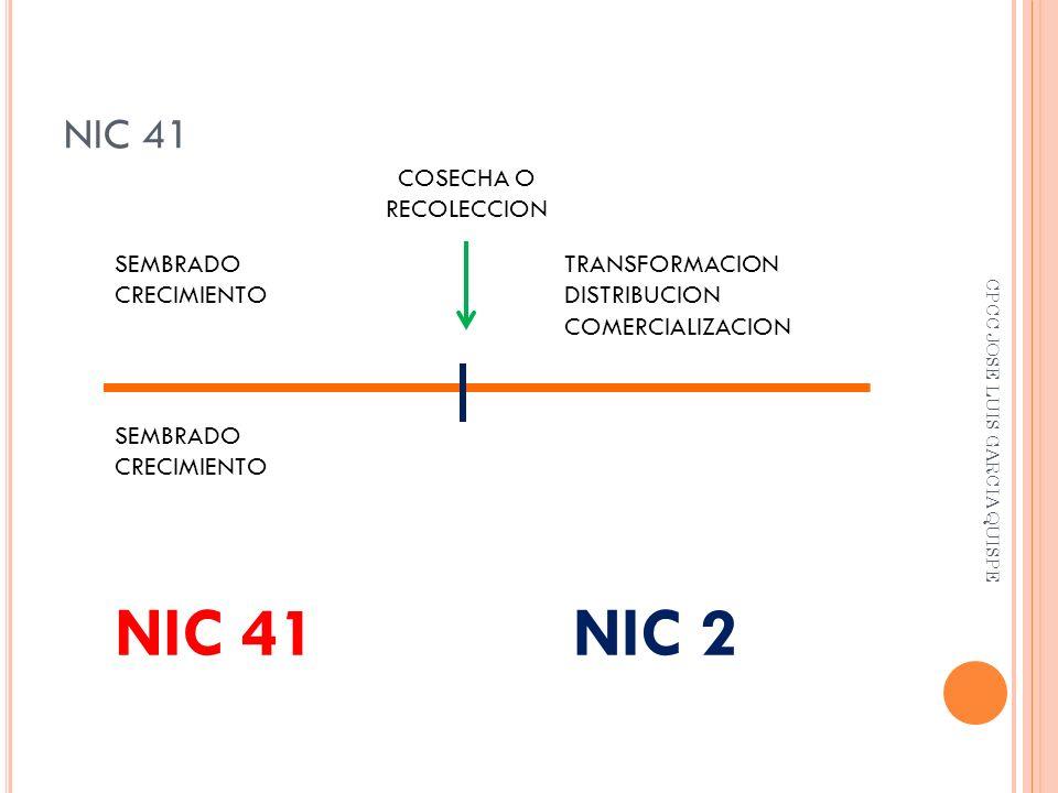 NIC 41 NIC 2 NIC 41 COSECHA O RECOLECCION SEMBRADO CRECIMIENTO