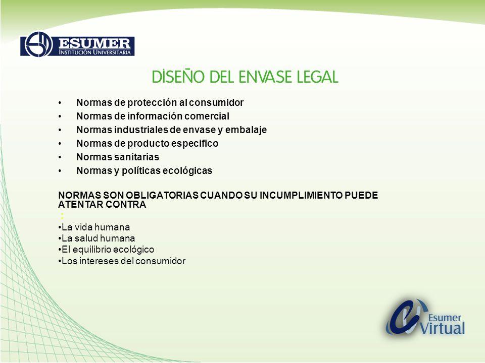 Normas de protección al consumidor Normas de información comercial
