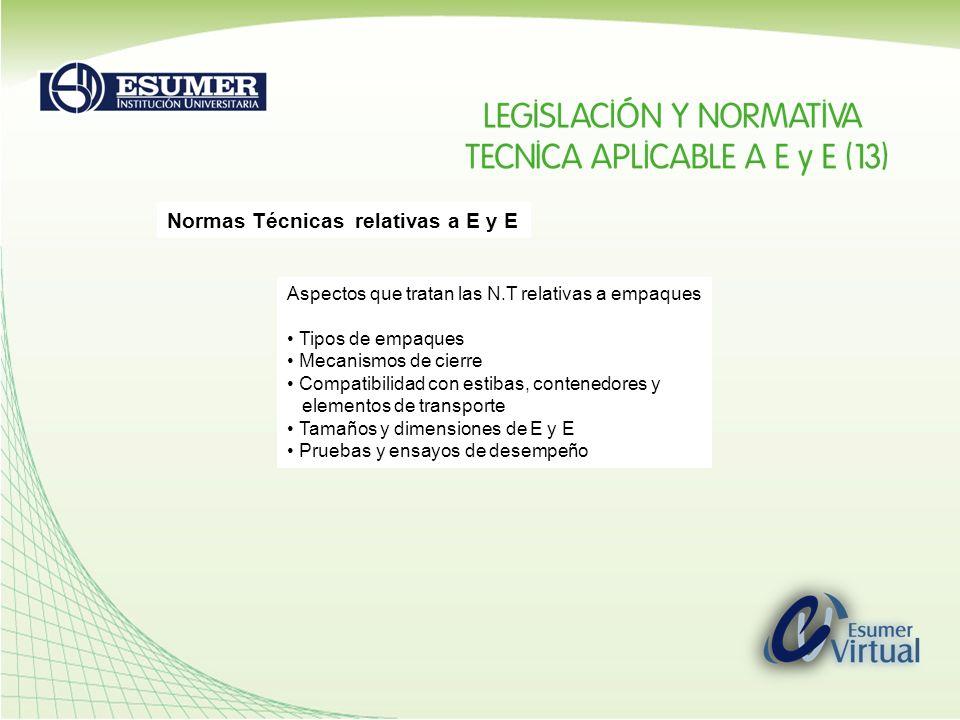Normas Técnicas relativas a E y E