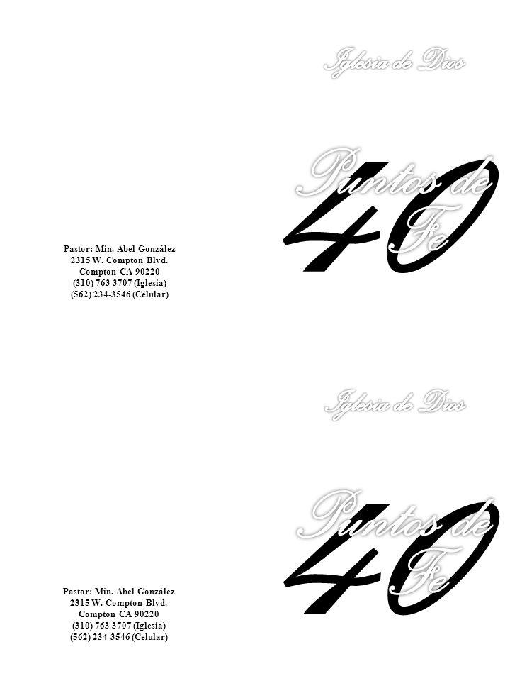 40 40 Puntos de Fe Puntos de Fe Iglesia de Dios Iglesia de Dios