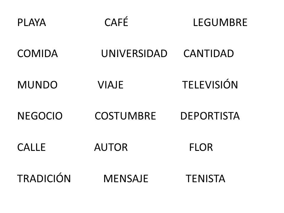 PLAYA CAFÉ LEGUMBRE COMIDA UNIVERSIDAD CANTIDAD MUNDO VIAJE TELEVISIÓN NEGOCIO COSTUMBRE DEPORTISTA CALLE AUTOR FLOR TRADICIÓN MENSAJE TENISTA