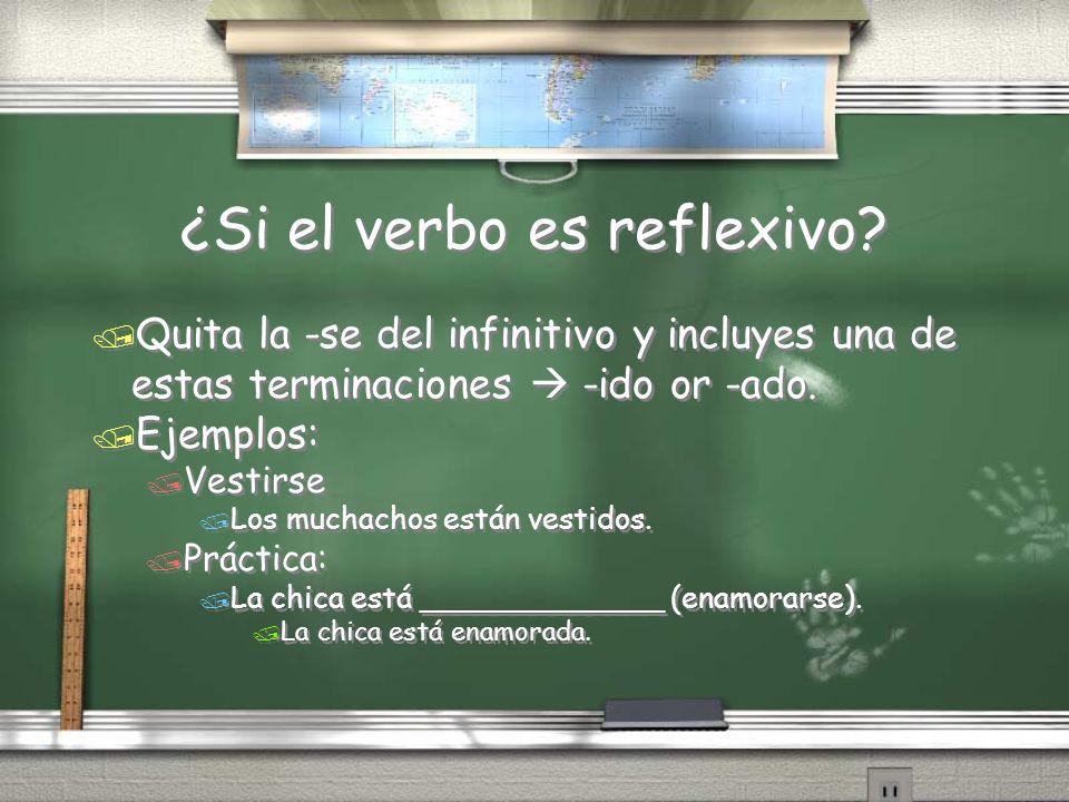 ¿Si el verbo es reflexivo