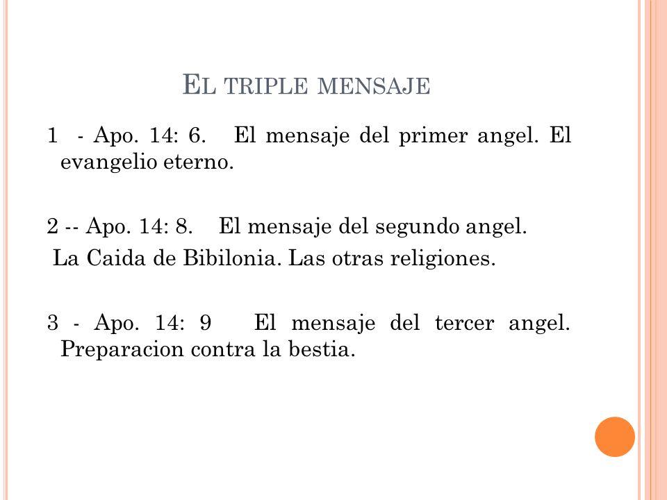 El triple mensaje