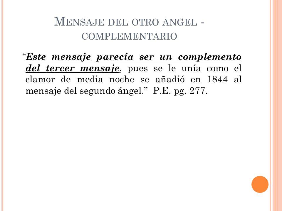 Mensaje del otro angel - complementario