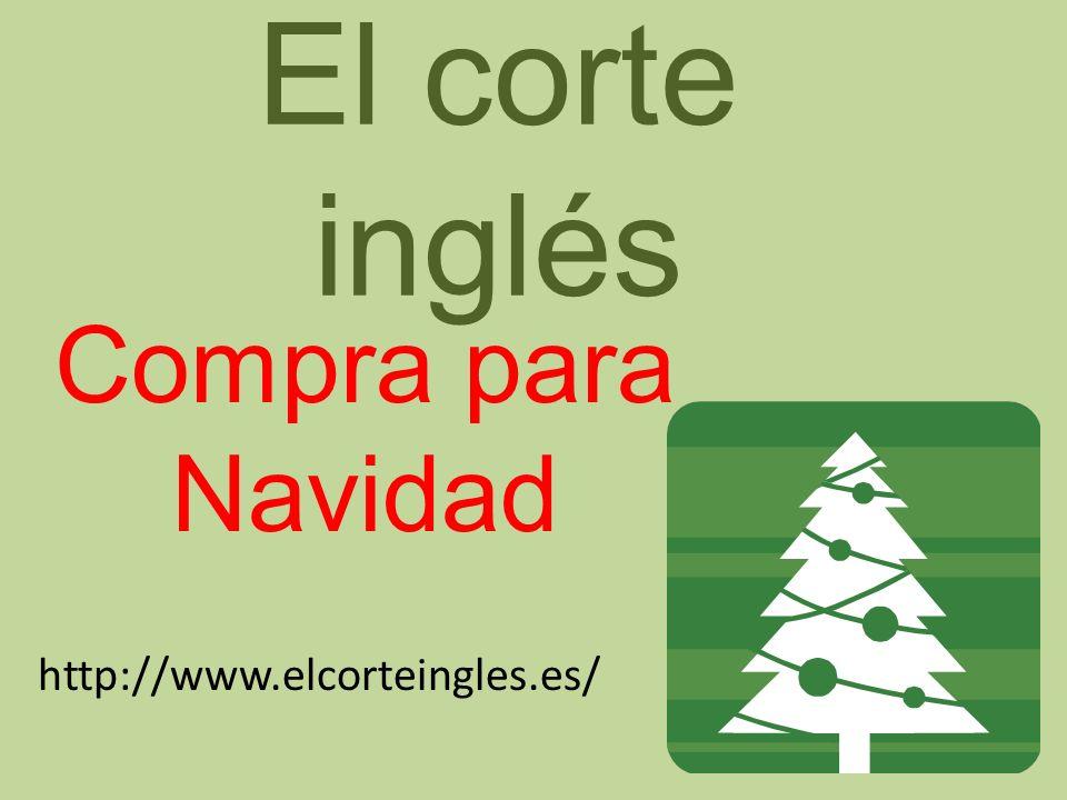 El corte inglés Compra para Navidad http://www.elcorteingles.es/