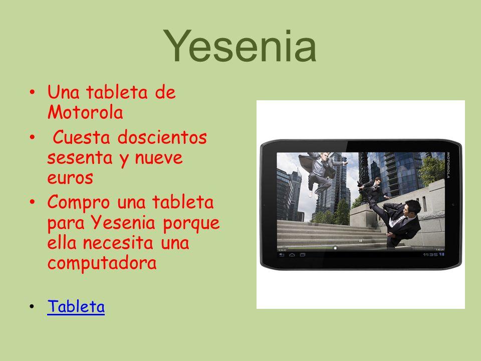 Yesenia Una tableta de Motorola