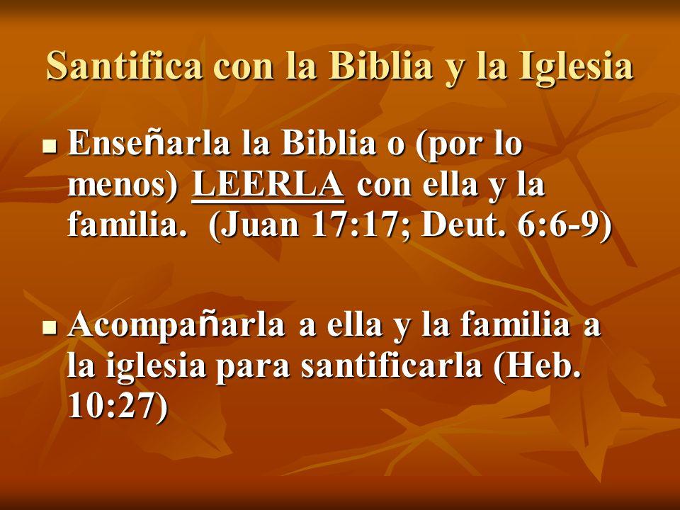 Santifica con la Biblia y la Iglesia