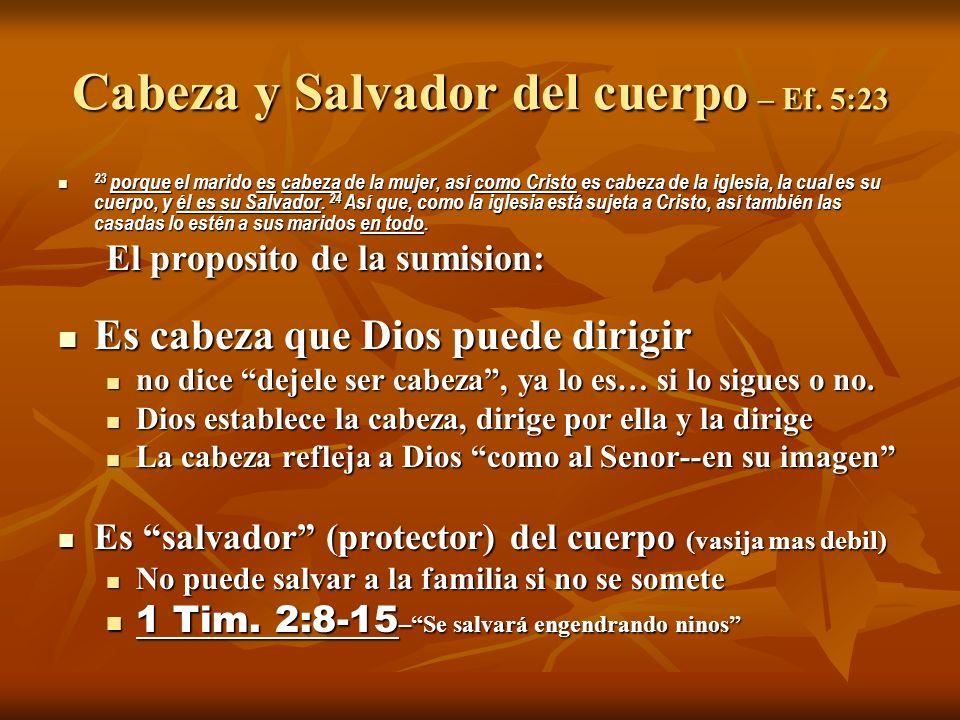 Cabeza y Salvador del cuerpo – Ef. 5:23