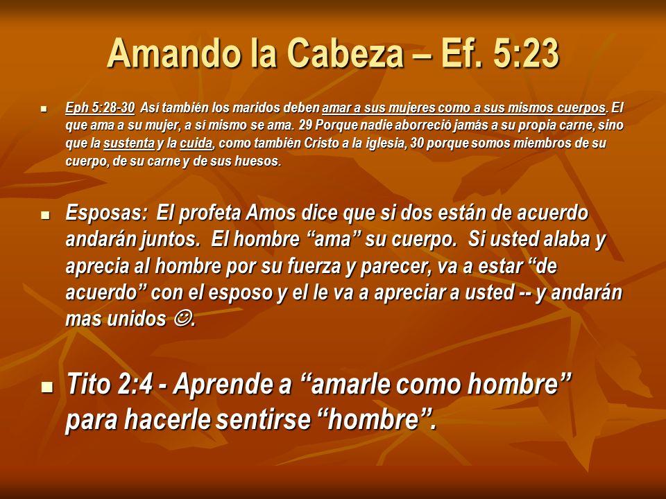Amando la Cabeza – Ef. 5:23