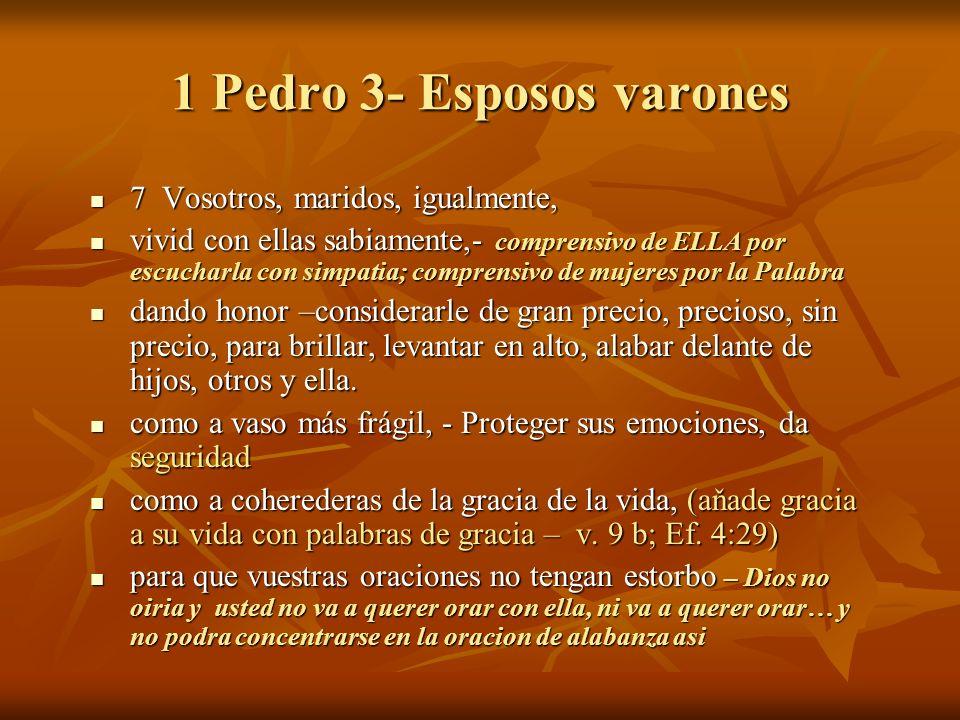 1 Pedro 3- Esposos varones