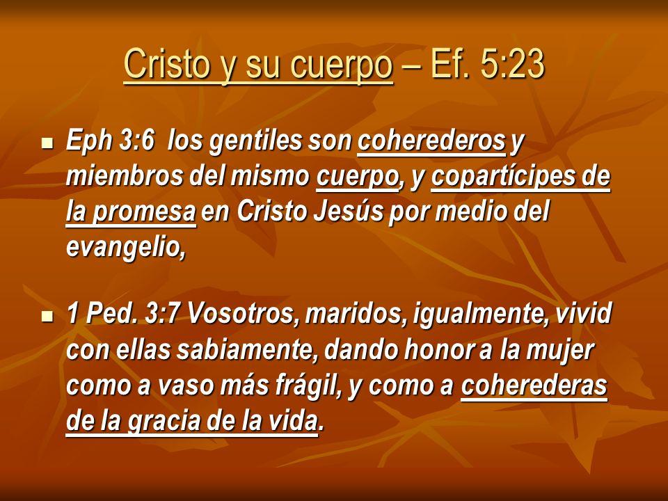Cristo y su cuerpo – Ef. 5:23