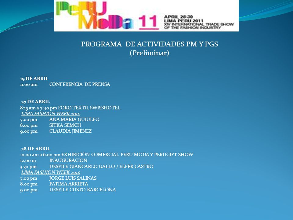 PROGRAMA DE ACTIVIDADES PM Y PGS