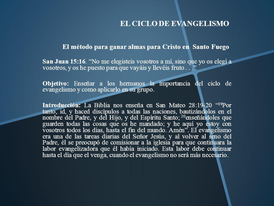 EL CICLO DE EVANGELISMO El método para ganar almas para Cristo en Santo Fuego