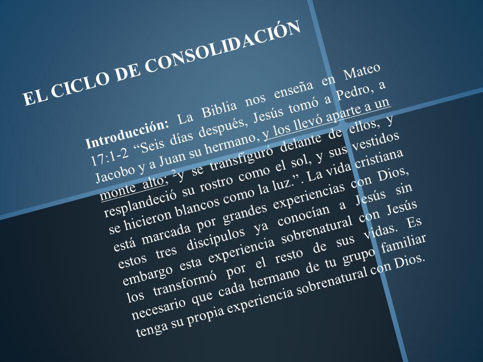 EL CICLO DE CONSOLIDACIÓN