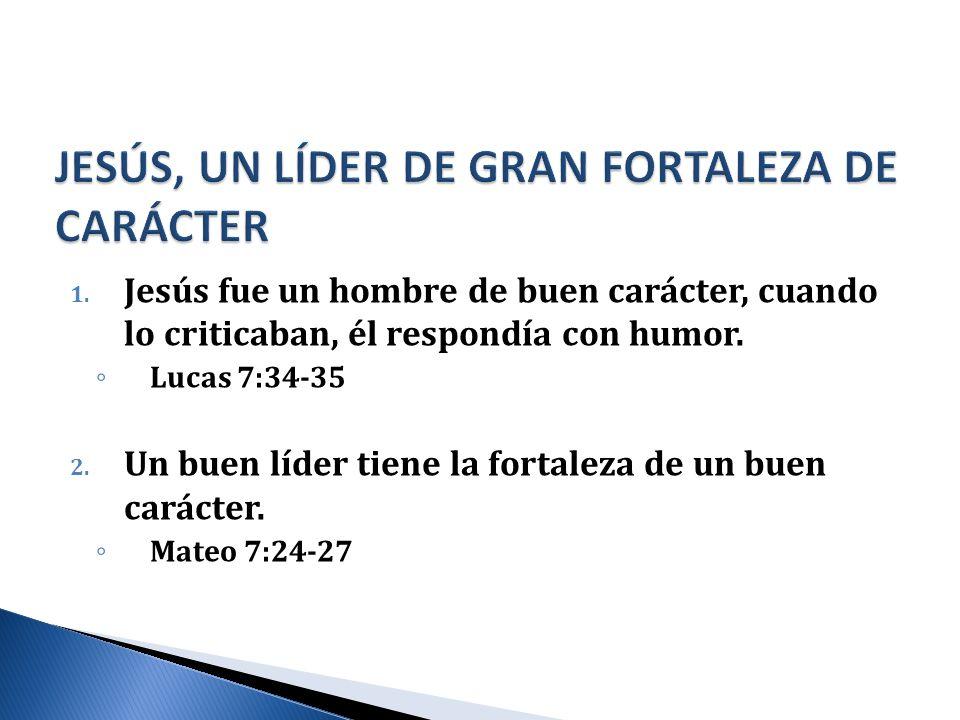 JESÚS, UN LÍDER DE GRAN FORTALEZA DE CARÁCTER