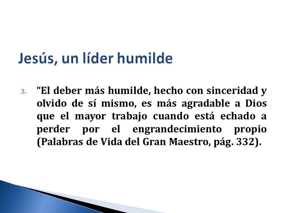 Jesús, un líder humilde
