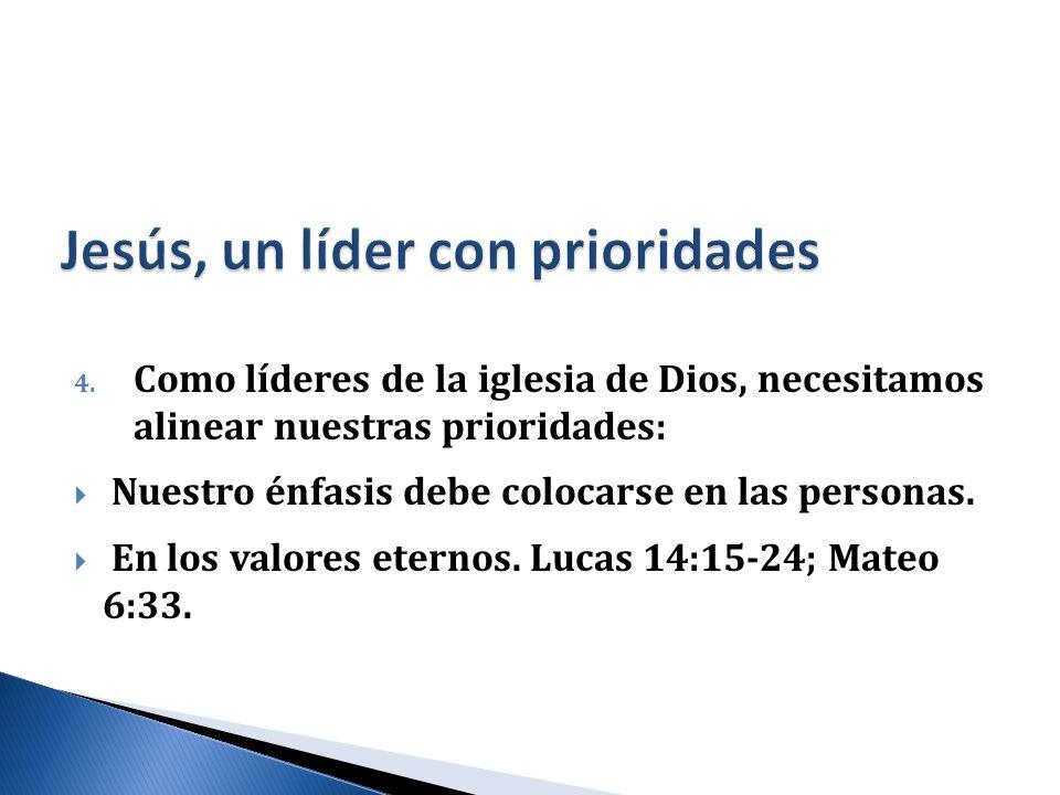 Jesús, un líder con prioridades