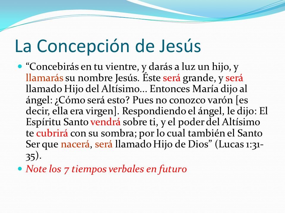 La Concepción de Jesús
