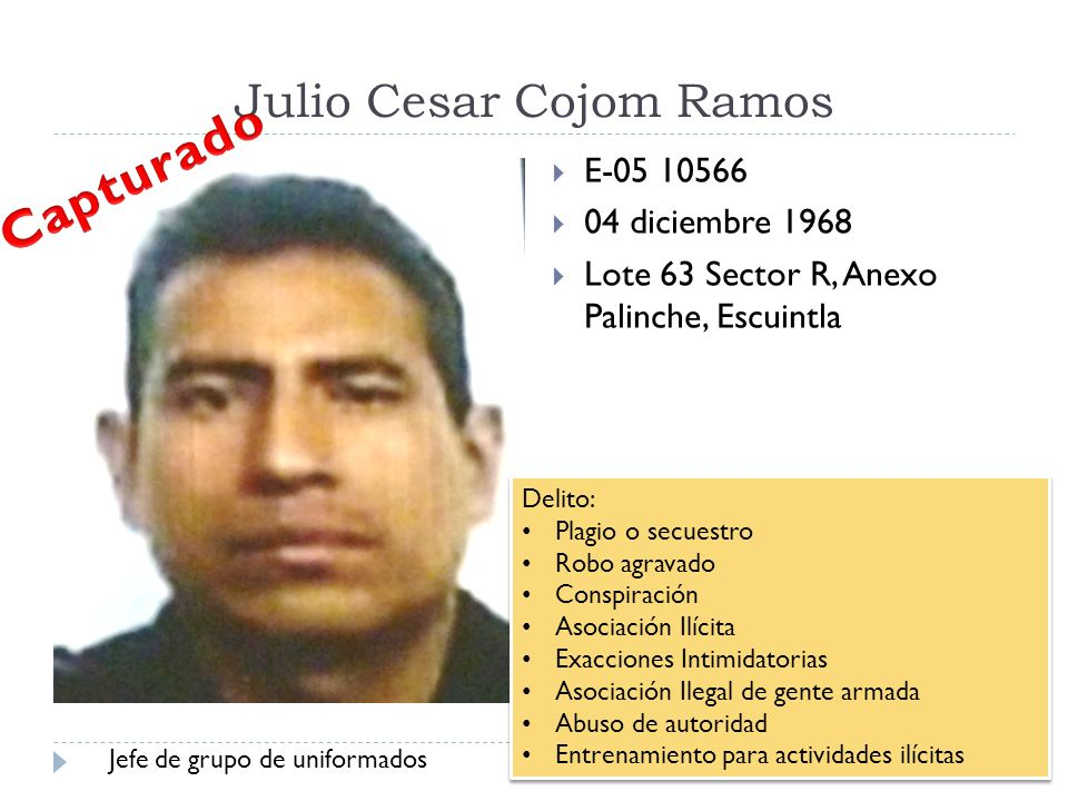 Julio Cesar Cojom Ramos
