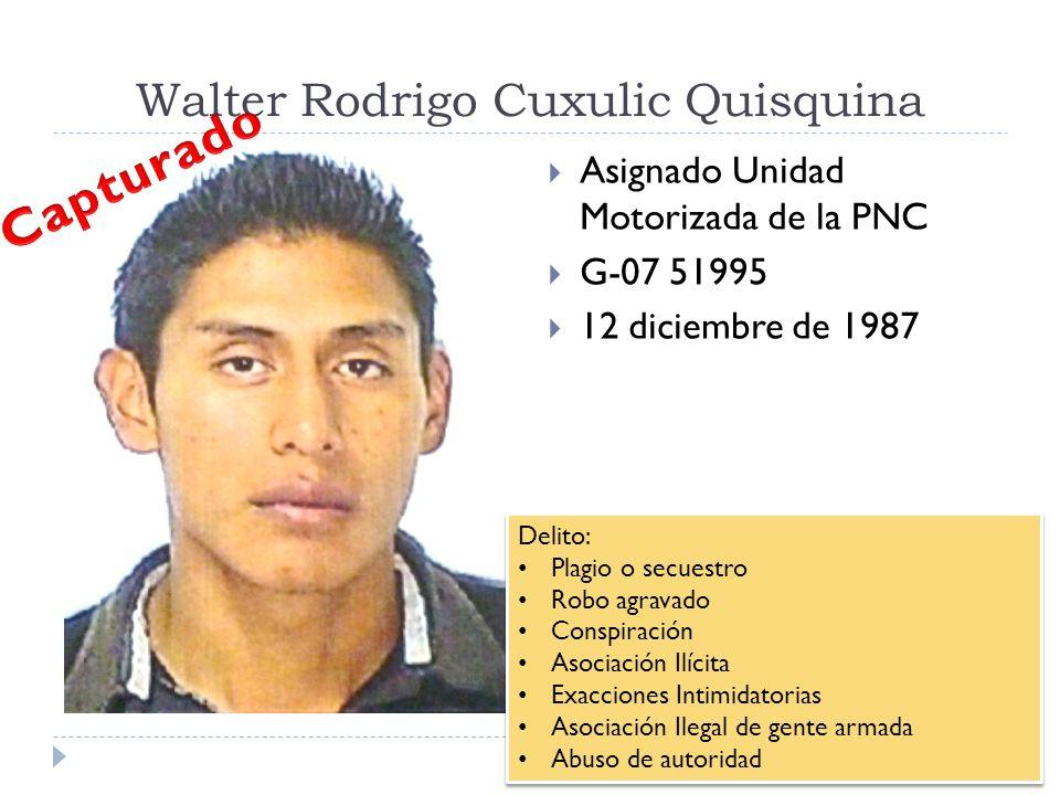 Walter Rodrigo Cuxulic Quisquina