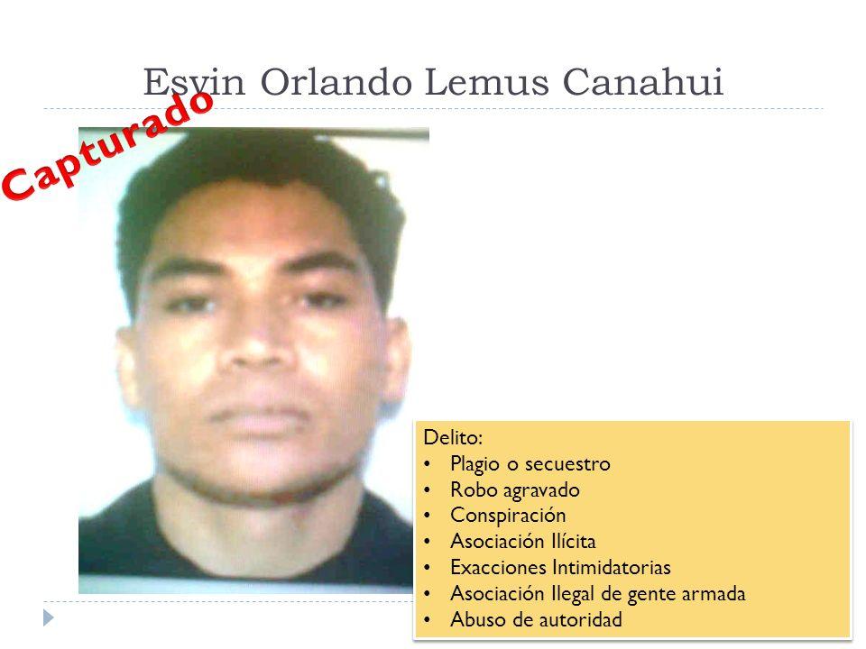 Esvin Orlando Lemus Canahui