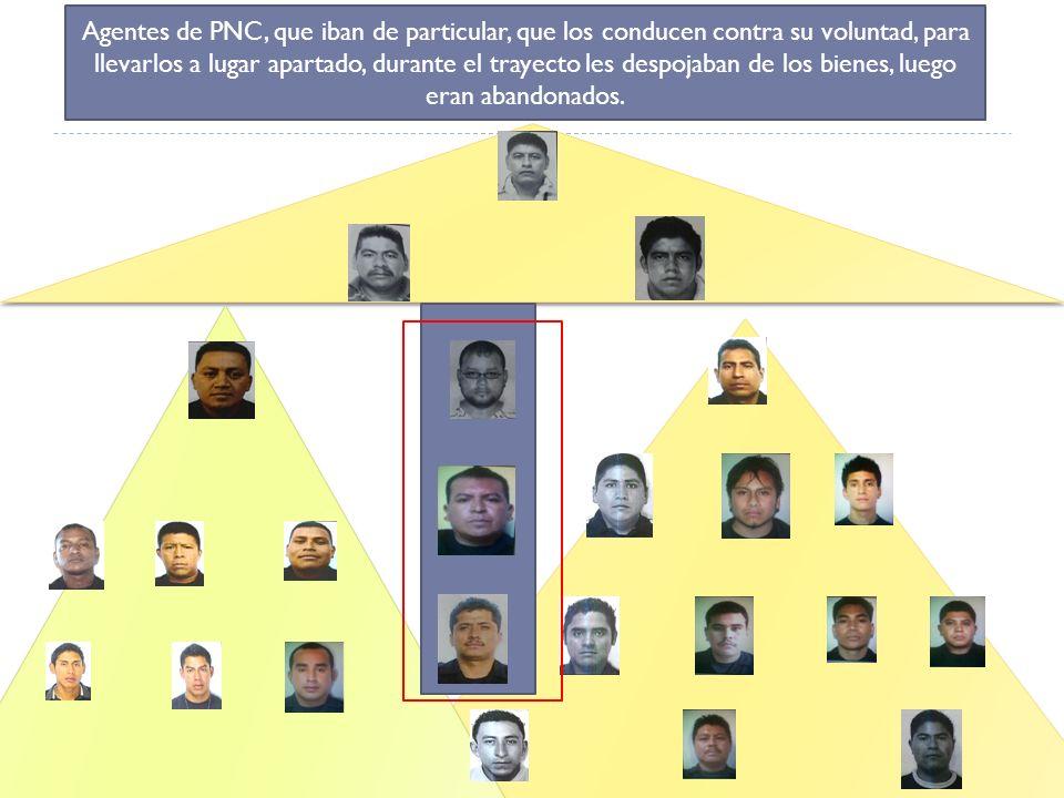 Funciones en la estructura criminal