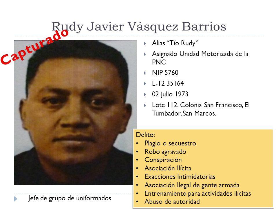 Rudy Javier Vásquez Barrios