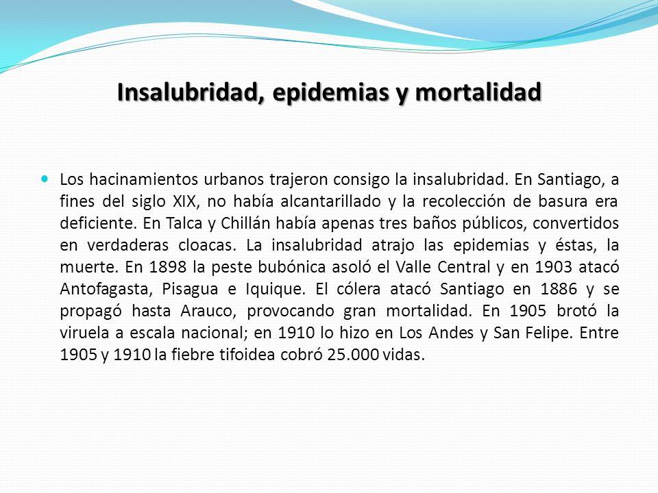 Insalubridad, epidemias y mortalidad